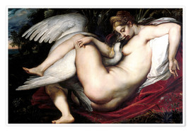 Poster Premium  Leda and the Swan - Peter Paul Rubens