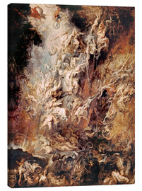 Tela  The Descent into Hell of the Damned - Peter Paul Rubens