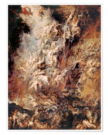 Poster  The Descent into Hell of the Damned - Peter Paul Rubens
