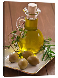 Stampa su tela  Olive oil and olives - Edith Albuschat