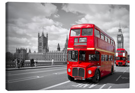 Tela  Westminster Bridge and Red Buses - Melanie Viola