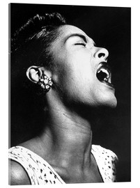 Stampa su vetro acrilico  Billie Holiday