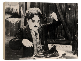 Stampa su legno  Chaplin: The Gold Rush