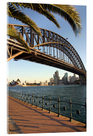 Stampa su vetro acrilico  Sydney Harbour Bridge - David Wall