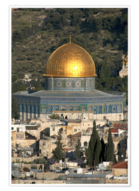 Poster  Jerusalem and the Dome of the Rock - David Noyes