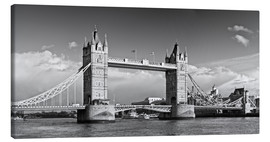 Stampa su tela  Tower Bridge black and white - Melanie Viola