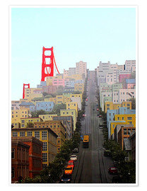 Poster Premium  San Francisco and Golden Gate Bridgee - John Morris