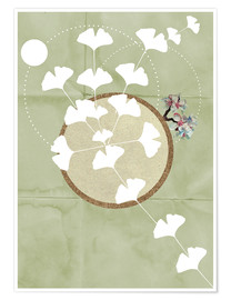 Poster Premium GINGKO TREE BY 5 CLOCK EARLY