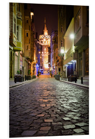 Stampa su schiuma dura  The famous Galata-Tower at night (Istanbul/Turkey) - gn fotografie