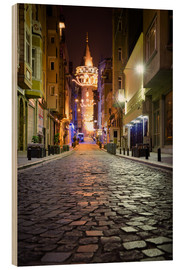 Stampa su legno  The famous Galata-Tower at night (Istanbul/Turkey) - gn fotografie