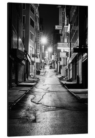 Alluminio Dibond  a dusky street at night in Istanbul - Turkey - gn fotografie