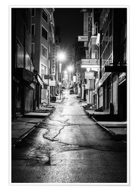 Poster  a dusky street at night in Istanbul - Turkey - gn fotografie
