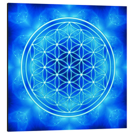 Alluminio Dibond  flower of life - archangel michael - Dolphins DreamDesign