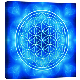 Stampa su tela  flower of life - archangel michael - Dolphins DreamDesign