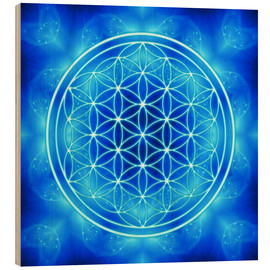 Legno  flower of life - archangel michael - Dolphins DreamDesign