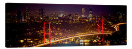 Stampa su tela  Bosporus-Bridge at night - red (Istanbul / Turkey) - gn fotografie