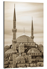Alluminio Dibond  the blue mosque in sepia (Istanbul - Turkey) - gn fotografie