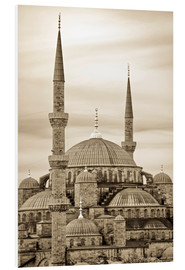 Stampa su schiuma dura  the blue mosque in sepia (Istanbul - Turkey) - gn fotografie