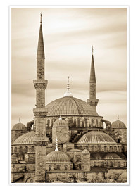 Poster  the blue mosque in sepia (Istanbul - Turkey) - gn fotografie