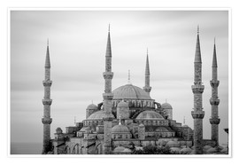 Poster Premium  the blue mosque in Istanbul / Turkey - gn fotografie