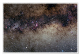 Poster Premium The Heart of the Milky Way - Constellation Sagittarius