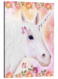 Alluminio Dibond  Loving Unicorn - Dolphins DreamDesign