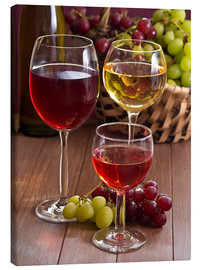 Stampa su tela  Wine in glasses - Edith Albuschat