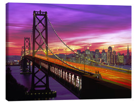 Stampa su tela  Bay Bridge a San Francisco - Paul Thompson