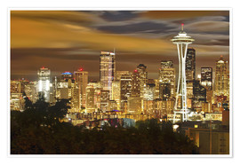 Poster  Seattle skyline - Christopher Reed