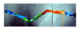 Poster Premium Colorful stripes 2