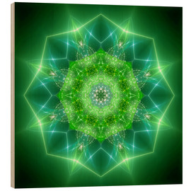 Legno  mandala healing power - Dolphins DreamDesign