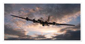 Poster Premium  The Flying Fortress - airpowerart