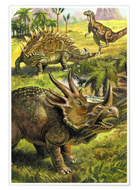 Poster Premium  Dinosaurs - English School