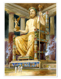 Poster Premium  Statue of Zeus at Oympia - English School
