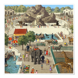 Poster Premium  At the Zoo - Ronald Lampitt