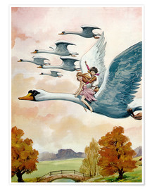Poster  The Little Swan Maiden - English School