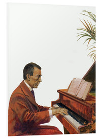 Stampa su schiuma dura  Rachmaninoff playing the piano - Andrew Howat