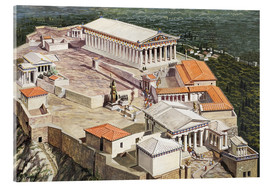 Stampa su vetro acrilico  The Acropolis and Parthenon - Roger Payne