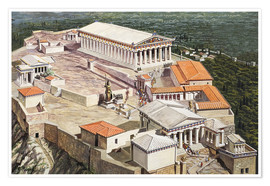 Poster  The Acropolis and Parthenon - Roger Payne