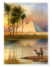 Poster Premium  The Great Pyramid of Giizeh - English School