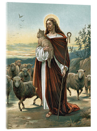 Vetro acrilico  The good shepherd - John Lawson
