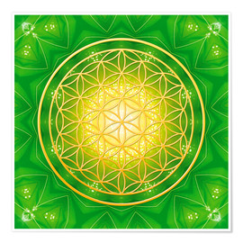Poster Flower of Life - Healing