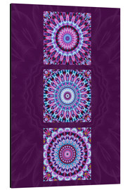 Alluminio Dibond  Mandala Collage purple - Christine Bässler