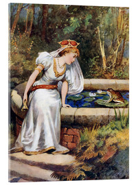 Stampa su vetro acrilico  The Frog Prince - William Henry Margetson