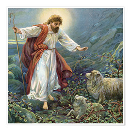 Poster  Jesus Christ, the tender shepherd - Ambrose Dudley
