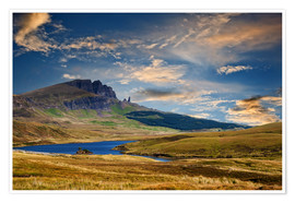 Poster Premium Scotland - Old Man of Storr at the isle of Skye