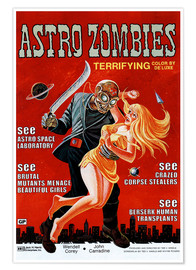 Poster  THE ASTRO-ZOMBIES, 1969