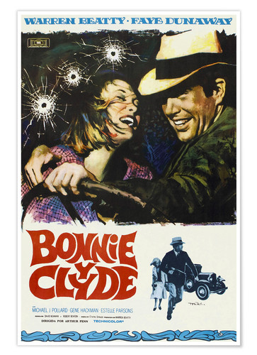 Poster Premium BONNIE AND CLYDE, on Spanish