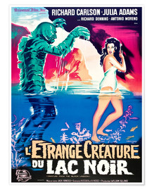 Poster Premium  CREATURE FROM THE BLACK LAGOON, on left: the Creature, played by Ben Chapman and Ricou Browning, on
