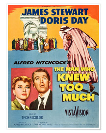 Poster  THE MAN WHO KNEW TOO MUCH, Doris Day, James Stewart